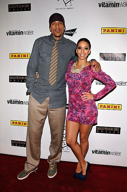 Gloria Govan and Matt Barns-and Kobe Bryant Hand And Footprint Ceremony After Party At Boulevard3