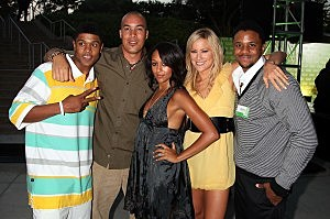 Actors From BET's The Game-CW 2007 TCA Party - Inside