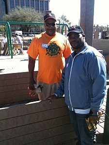 Erik Tee(107 Jamz) and Craig Ryan (Millennium Park Safety)