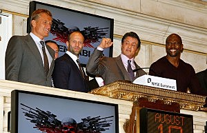 """The Expendables"" Cast Rings The New York Stock Exchange Opening Bell"