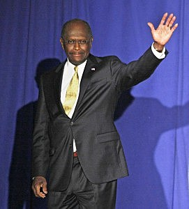 GOP Presidential Hopeful Herman Cain Gives Foreign Policy Address In Michigan