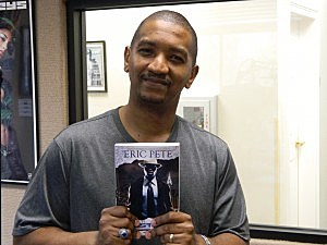 Eric Pete With His Latest Novel Frostbite