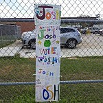 The children from Westwood Elementary School in Westlake, La. show their support for Joshua Ledet