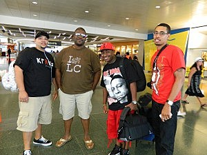 Big Boy Chill, Erik Tee, Dj Lex and Mr. Socialite In The Lax Airport