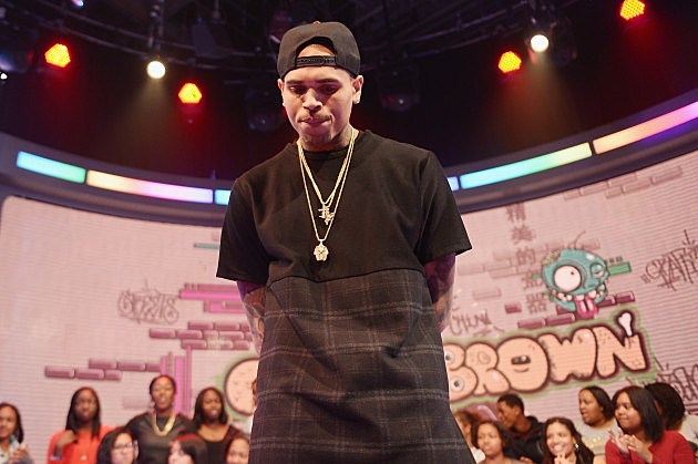 "Chris Brown Visits BET's ""106 & Park"""