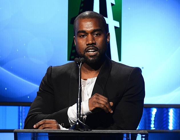 Kanye West speaks onstage during the 17th annual Hollywood Film Awards at The Beverly Hilton Hotel on October 21, 2013