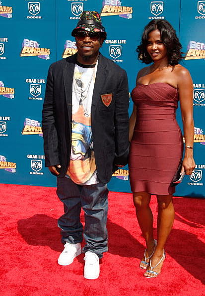 LOS ANGELES, CA - JUNE 24:  Rapper Big Boi (L) and his wife Sherlita Patton arrive at the 2008 BET Awards held at the Shrine Auditorium on June 24, 2008 in Los Angeles, California.  (Photo by Frazer Harrison/Getty Images)