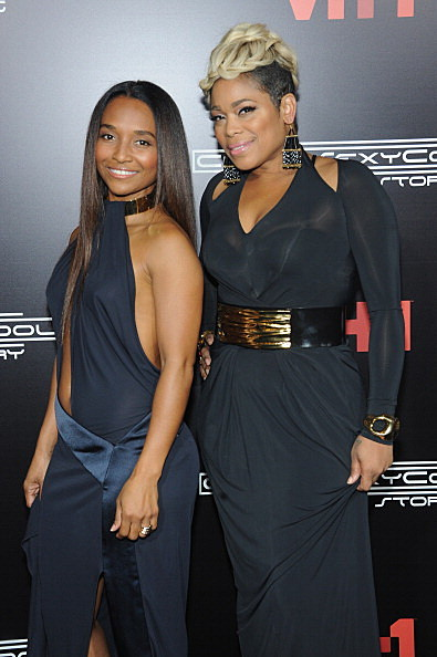 Chilli and T-Boz attends the CrazySexyCool Premiere Event at AMC Loews Lincoln Square 13 theater on October 15, 2013 in New York City.  (Photo by Brad Barket/Getty Images for VH1)