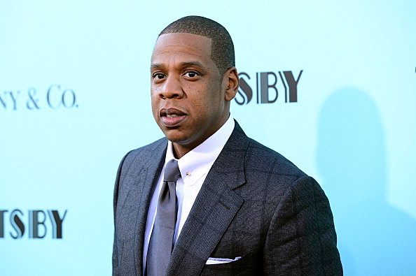 """NEW YORK, NY - MAY 01:  Jay-Z attends the """"The Great Gatsby"""" world premiere at Avery Fisher Hall at Lincoln Center for the Performing Arts on May 1, 2013 in New York City.  (Photo by Stephen Lovekin/Getty Images)"""