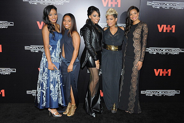 Keke Palmer, Chilli, Drew Sidora, T-Boz and Rochelle Aytes attends the CrazySexyCool Premiere on October 15, 2013 in New York City.