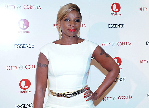 """NEW YORK, NY - JANUARY 28:  Actress  Mary J. Blige attends the premiere of """"Betty & Coretta"""" to celebrate with Lifetime and cast at Tribeca Cinemas on January 28, 2013 in New York City.  (Photo by Craig Barritt/Getty Images for Lifetime)"""