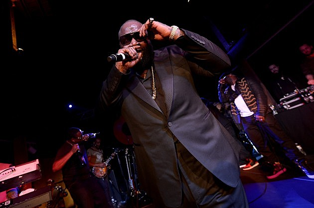 Rick Ross @ GQ & LeBron James NBA All Star Party Sponsored By Samsung Galaxy And Beats - 2014