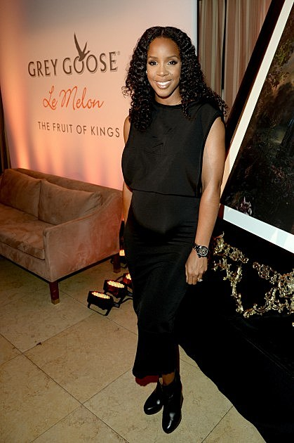 Kelly Rowland @ GREY GOOSE Le Melon Toasts Carmelo Anthony With Art Commissioned By Award Winning Artist Kehinde Wiley