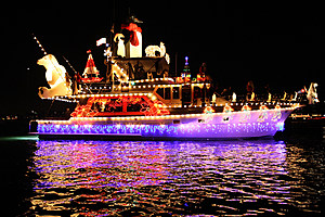 Boats And Yachts Take Part In The Newport Beach Christmas Boat Parade