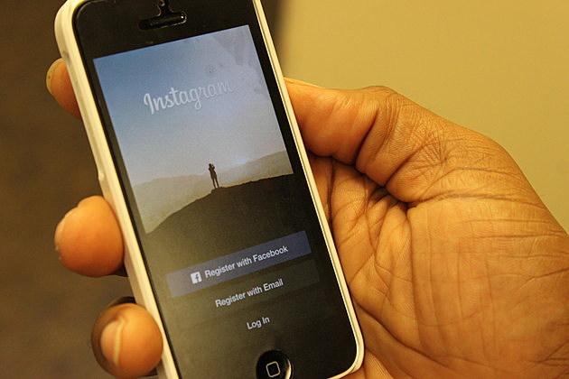 The splash screen for Instagram