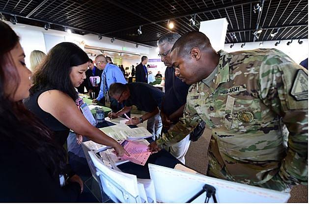 Veterans Job Fair - Frederic J. Brown via Getty Images